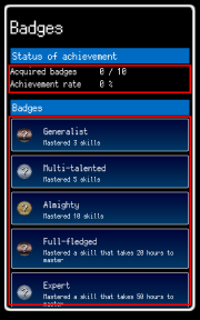 View badges