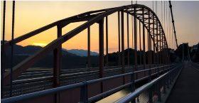 三井大橋からの夕日